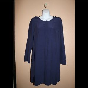 Madewell Women's Long Sleeves Navy Tunic Dress